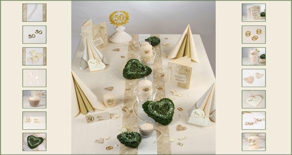 Goldene hochzeit dekoration for Goldene hochzeit dekoration