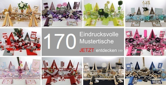 tischdeko tischdekoration auf 170 mustertischen zum fest. Black Bedroom Furniture Sets. Home Design Ideas