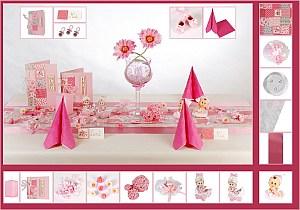 Taufe Tischdeko Mustertische Pink